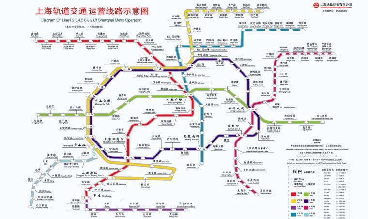 2007年上海地鐵運行圖