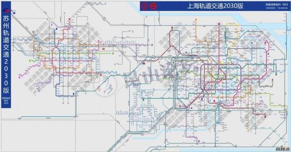 上海蘇州2030地鐵圖