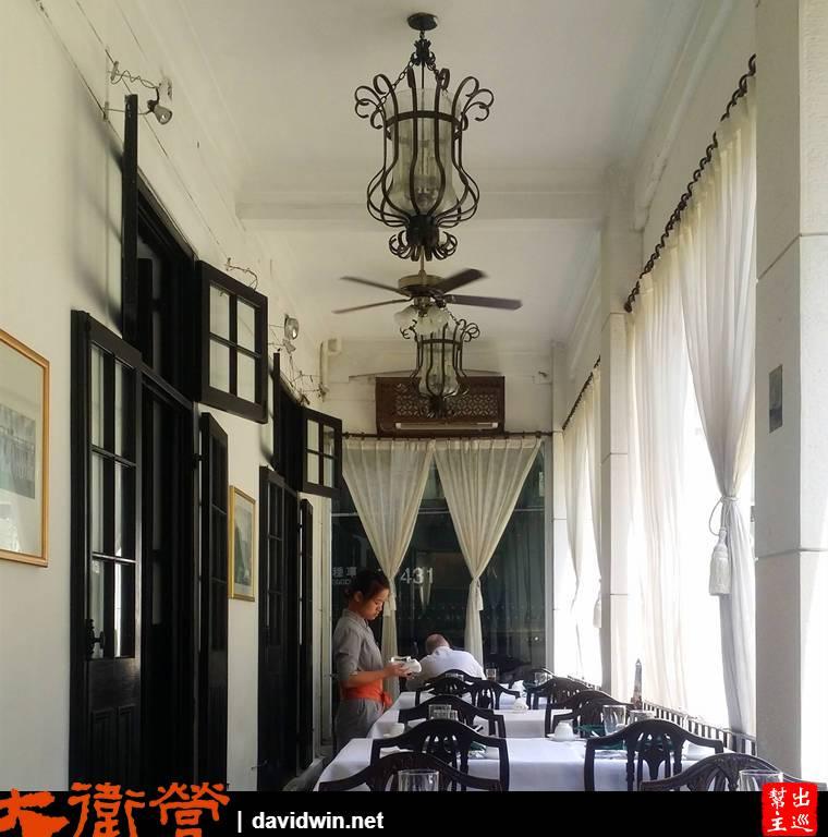 上海老站餐廳內的車廂用餐
