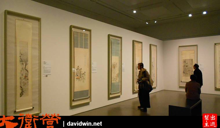 『海上生明月』的展出,內容從明清國畫到近代藝術家作品都有