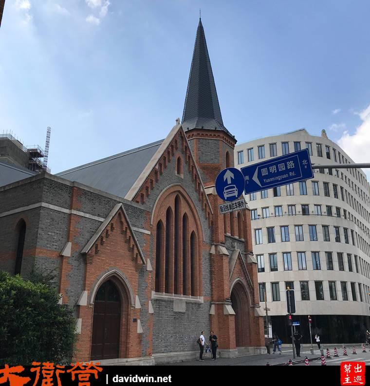 建於1886年的『新天安堂』,當年是僑民教堂,哥特復興式的外觀設計