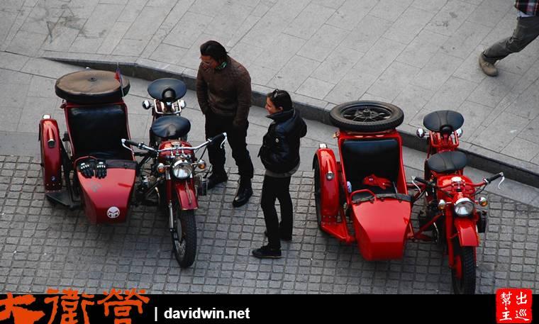 老外騎摩托車來1933老場坊