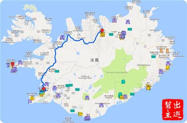 幾乎一天要開四分之一個冰島,而且這段路穿山而過