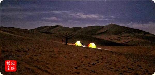 人生第一次在沙漠露營的睡覺體驗。