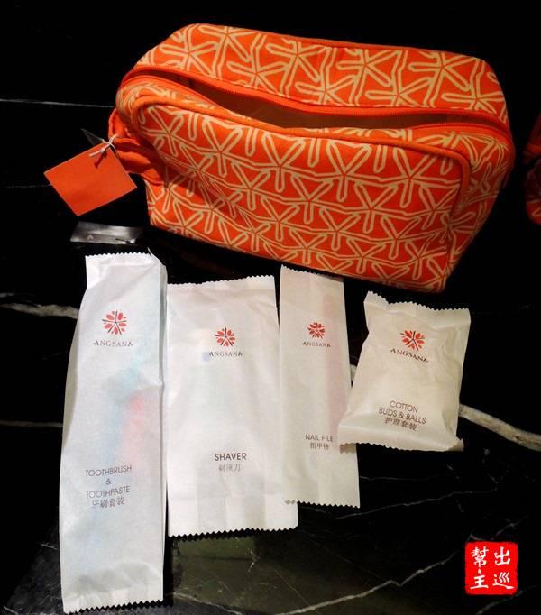 備品的部分更是用心,還特別用了橘色系的包裝
