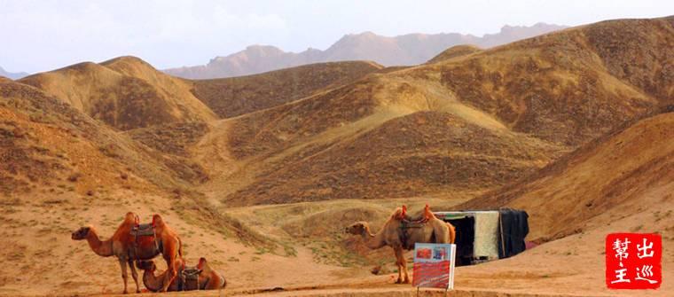 張掖臨澤七彩丹霞騎駱駝