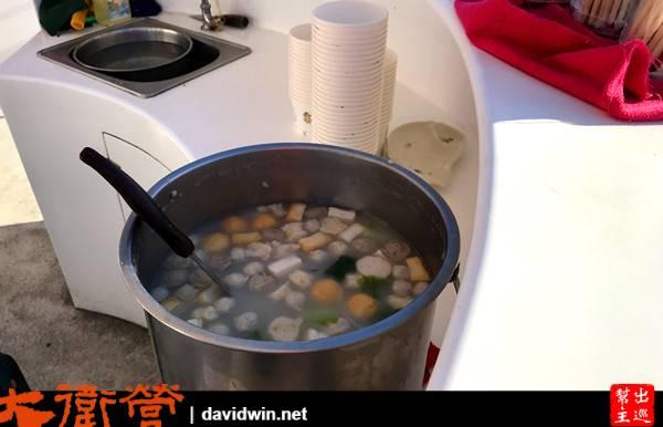 魚丸粥是船上準備的晚餐!很好吃耶