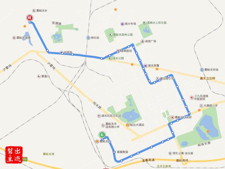 嘉峪關的三個景點中,只有這個關城是有公車可以到的