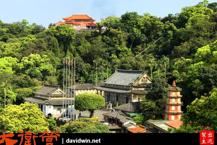 這個角度可以完整的看到圓通寺的全景,可以說是被包圍著的清幽之地