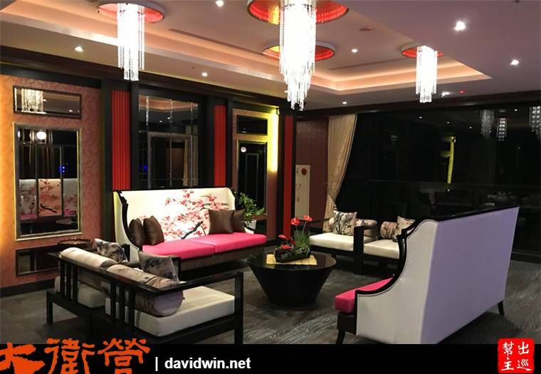 商務房的樓層,可以發現裝潢上已經是充滿中式的風情