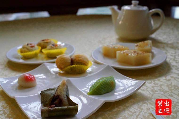 """負責點心料理的主廚陸亞明設計了這套""""夫人套點"""""""
