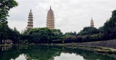 【中國|大理】經典倒影畫面:崇聖寺三塔