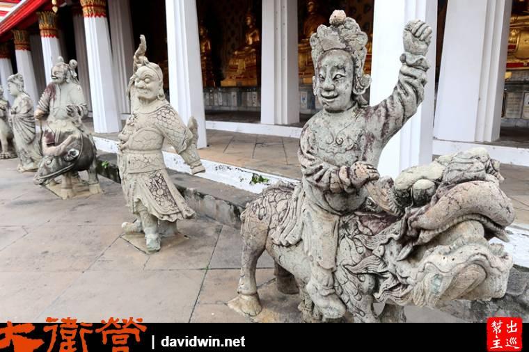 中國元素的塑像