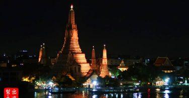 夜間點燈後的鄭王廟