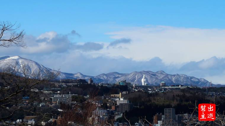 可以遠眺整個仙台城市