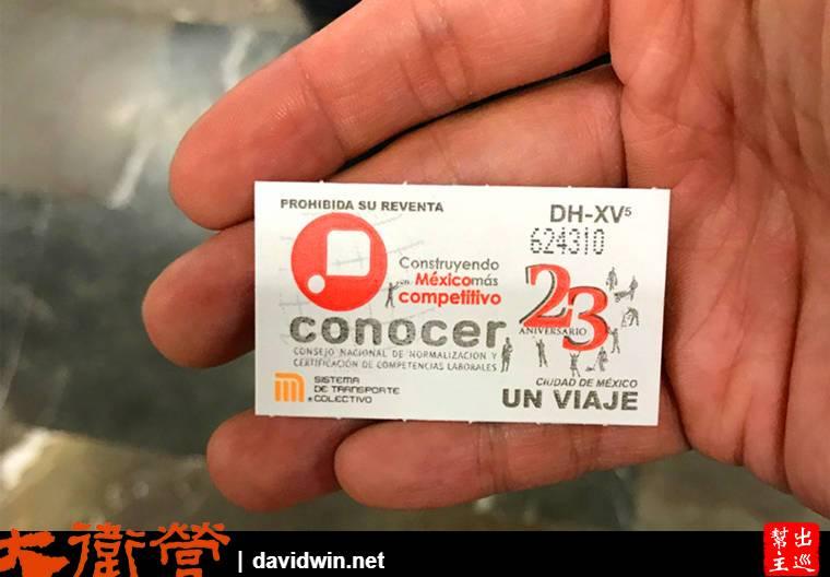 墨西哥地鐵票