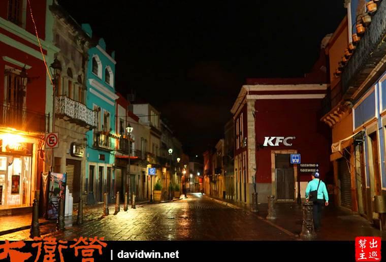 凌晨的瓜納華托街道