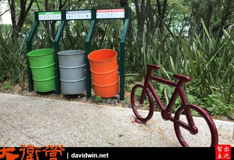 墨西哥的垃圾分類與腳踏車雕塑