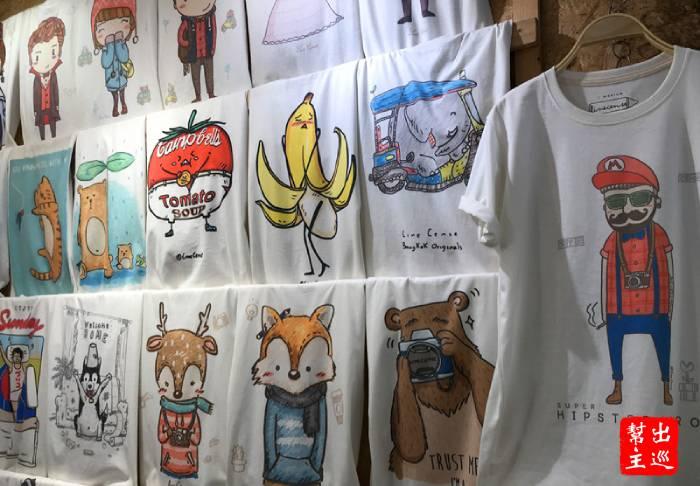 可愛的T-Shirt,全部都是原創手繪漫畫風