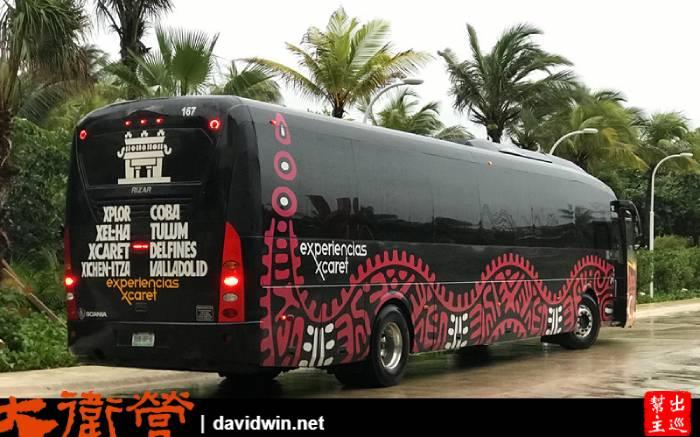 連巴士都是瑪雅特色塗裝