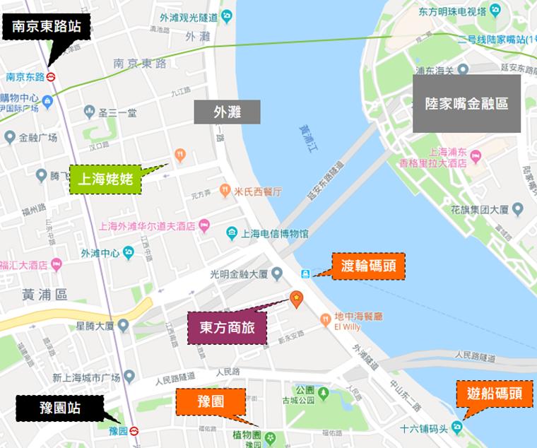 東方商旅酒店周邊地圖