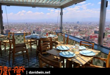 墨西哥拉丁美洲塔上最高餐廳:Miralto Restaurante
