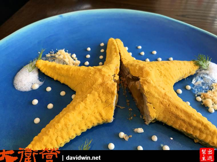 米其林頒獎晚宴中,他的招牌甜品『海星』是最後壓軸登場的亮點,驚艷全場。