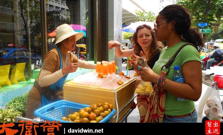 曼谷街頭柳橙汁