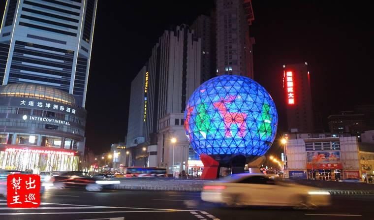 大連友好廣場的水晶球