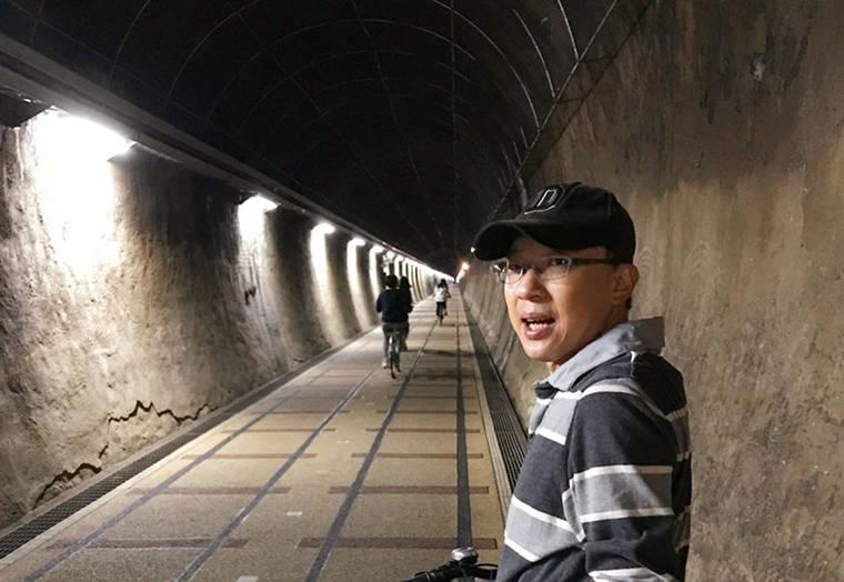 隧道中非常的清涼,騎車一點都不累,真的好棒!