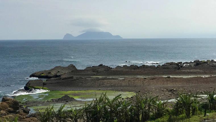 台灣的海岸線美景與龜山島