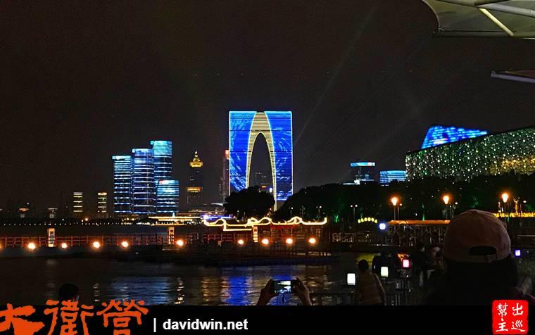 蘇州金雞湖、東方之門、月光碼頭
