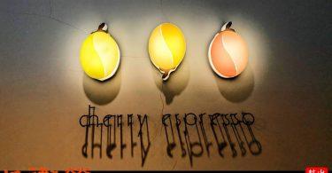 櫻桃(或是咖啡豆?)造型的燈具