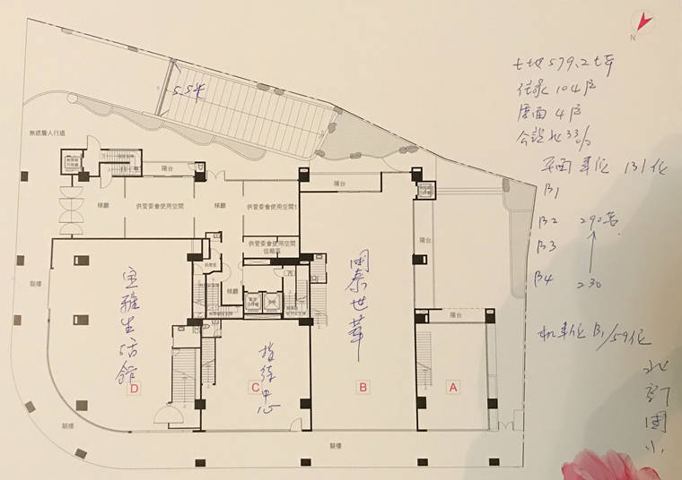 新店新成屋璞御一樓平面圖