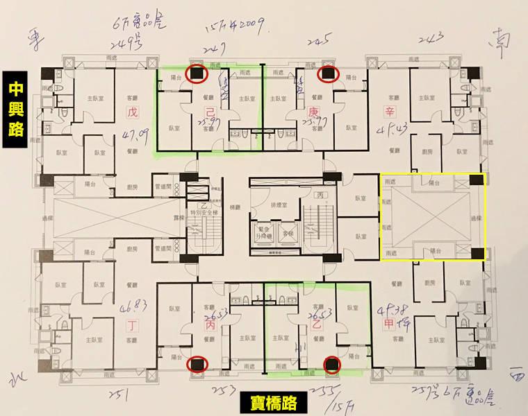 新店新成屋璞御戶型平面圖