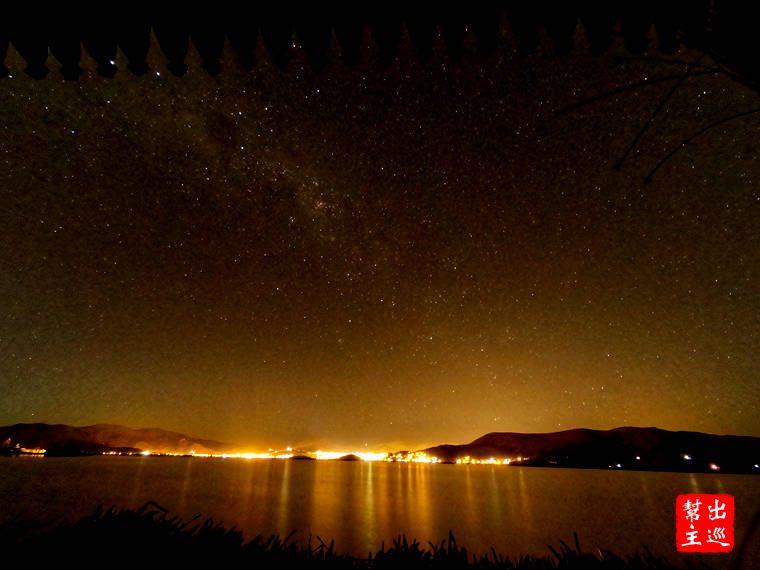 的喀喀湖滿天星空