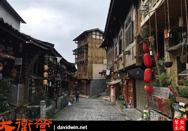 磨西古鎮明清建築與青石版路面
