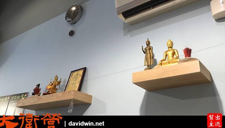 而店內的佈置延續了宗教的內容,看得出來是主人本身的信仰投